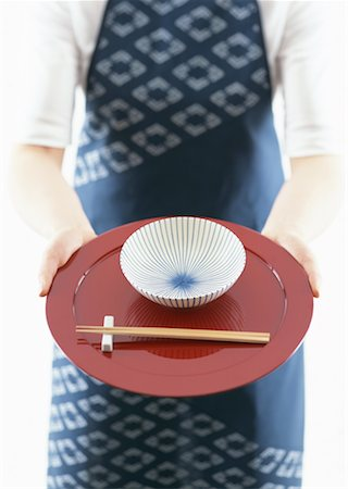 Red tray and chopsticks Stock Photo - Premium Royalty-Free, Code: 670-02110094