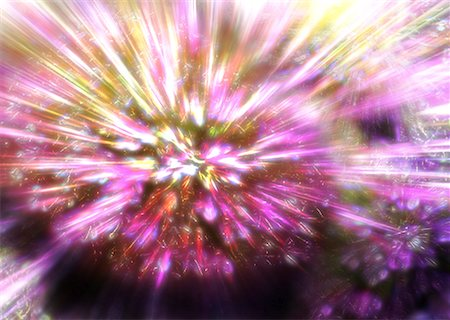 pink and purple fireworks - Light Image (CG) Stock Photo - Premium Royalty-Free, Code: 670-02111100
