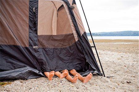 preteen feet - Children playing in tent on beach Stock Photo - Premium Royalty-Free, Code: 673-06964829