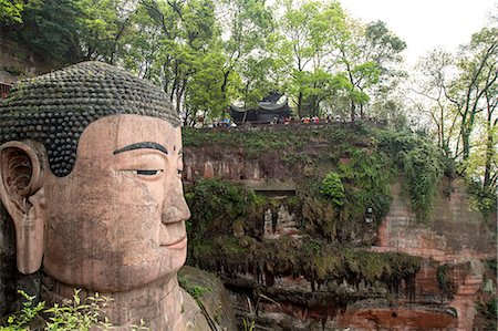 Close of up the Leshan giant Buddha, Sichuan province, China Stock Photo - Premium Royalty-Free, Code: 673-08139296