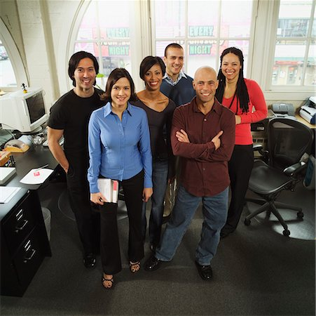 Group portrait of six business colleagues. Stock Photo - Premium Royalty-Free, Code: 673-02138376