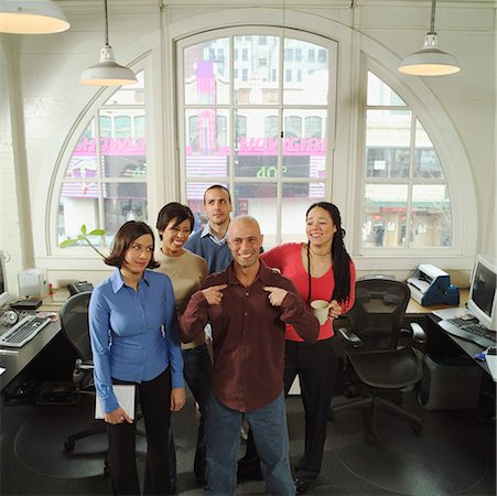 The boss and his colleagues. Stock Photo - Premium Royalty-Free, Code: 673-02138381