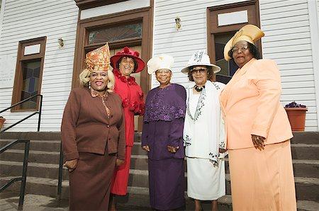 Five senior women wearing hats. Stock Photo - Premium Royalty-Free, Code: 673-02138493
