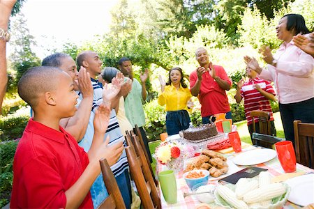 Enthusiastic family at picnic Stock Photo - Premium Royalty-Free, Code: 673-02139618