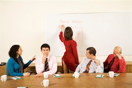 female rear end - Businesswoman writing on chart with dress pulled up Stock Photo - Premium Royalty-Free, Code: 673-02142261
