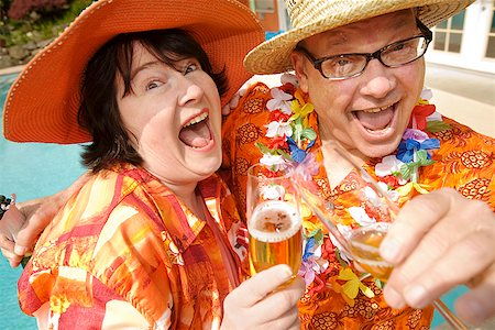 Couple wearing festive outfits Stock Photo - Premium Royalty-Free, Code: 673-02142484