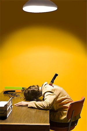 dead female body - Deceased woman in office stabbed in the back Stock Photo - Premium Royalty-Free, Code: 673-02801388