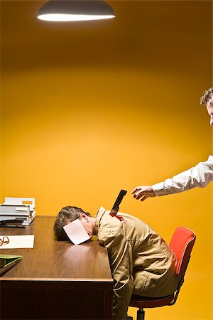 dead female body - Woman in office being stabbed in the back Stock Photo - Premium Royalty-Free, Code: 673-02801407