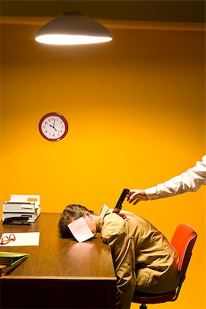 dead female body - Woman in office being stabbed in the back Stock Photo - Premium Royalty-Free, Code: 673-02801408