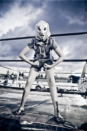 girl in wrestling costume Stock Photo - Premium Royalty-Free, Code: 673-03405690