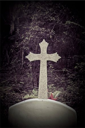 religious cross nobody - cross in mexican cemetery Stock Photo - Premium Royalty-Free, Code: 673-03826268