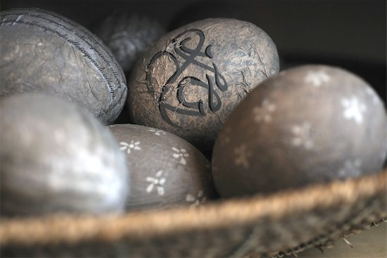 Ornate eggs Stock Photo - Premium Royalty-Free, Image code: 689-05610520