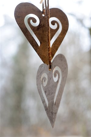 decoration - Ornate hearts Stock Photo - Premium Royalty-Free, Code: 689-05610551