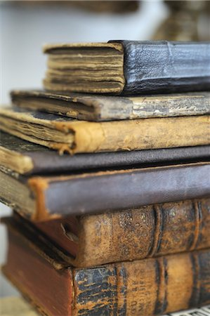 Stack of old books Stock Photo - Premium Royalty-Free, Code: 689-05610657