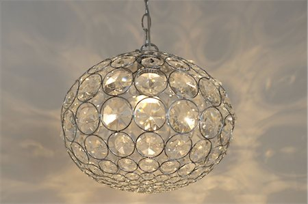 Elegant ceiling lamp Stock Photo - Premium Royalty-Free, Code: 689-05611249