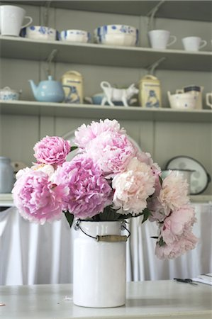 peony - Bunch of flowers in a jug Stock Photo - Premium Royalty-Free, Code: 689-05611465