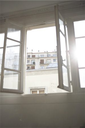 expectation - Sunbeam passing through open window Stock Photo - Premium Royalty-Free, Code: 689-05611533
