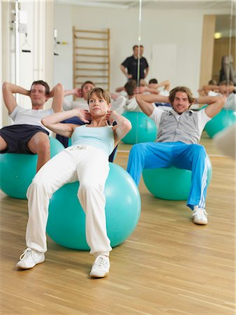 rehabilitation - Gym with fit-ball Stock Photo - Premium Royalty-Free, Code: 689-03131208