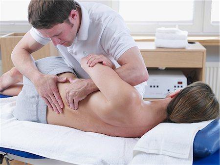 rehabilitation - medical massage Stock Photo - Premium Royalty-Free, Code: 689-03131242