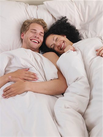 lazy time in bed Stock Photo - Premium Royalty-Free, Code: 689-03131264