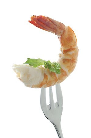 delicious - Shrimp on a fork Stock Photo - Premium Royalty-Free, Code: 689-03733659