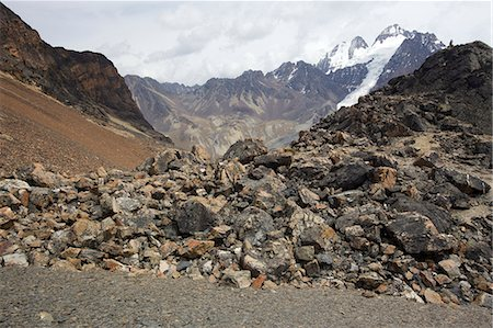 View over igneous rocks of the Cordillera Real, Andes Mountain, Bolivia, South America Stock Photo - Premium Royalty-Free, Code: 682-05650513