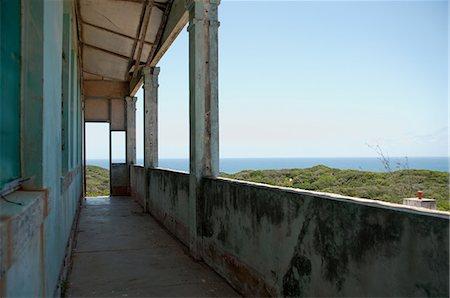 Detail of old lighthouse exterior, Zavora, Mozambique Stock Photo - Premium Royalty-Free, Code: 682-05977685