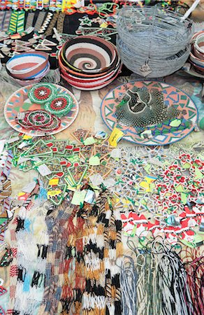 Various African beaded and wire crafts. nr Empangeni, Kwa-Zulu Natal Province, South Africa Stock Photo - Premium Royalty-Free, Code: 682-02895642