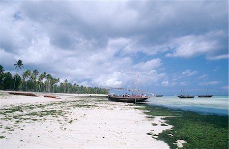 sailing boat storm - Scenic View of Dhow Boat on Zanzibar Shoreline Stock Photo - Premium Royalty-Free, Code: 682-02893055