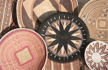 decoration pattern - Traditional woven basket craft, Zimbabwe Stock Photo - Premium Royalty-Free, Code: 682-03188224