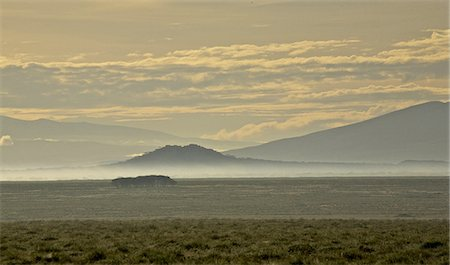 serengeti national park - Early morning mist around twin hills, Serengeti, Tanzania Stock Photo - Premium Royalty-Free, Code: 682-03734728