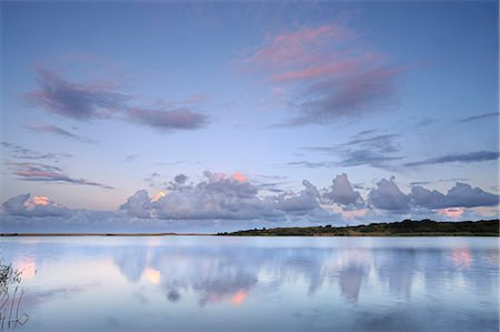 Reflected clouds in shoreline estuary system, St Lucia, Kwazulu-Natal, South Africa Stock Photo - Premium Royalty-Free, Code: 682-03797860