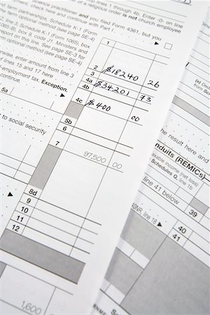seamless - Tax Forms Stock Photo - Premium Royalty-Free, Code: 694-03329240