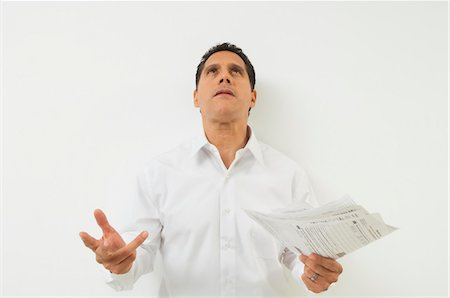 seamless - Man Frustrated with Taxes Stock Photo - Premium Royalty-Free, Code: 694-03329456