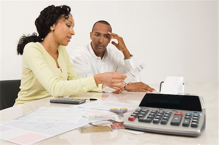 seamless - Couple Doing Personal Finances Stock Photo - Premium Royalty-Free, Code: 694-03329476