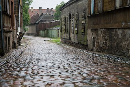 Cobbled street, Latvia Stock Photo - Premium Royalty-Free, Code: 694-03333040