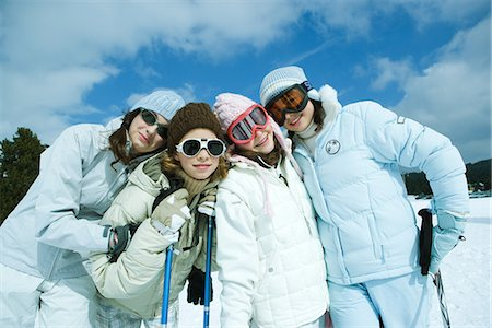 Group of teen girls in ski gear, portrait Stock Photo - Premium Royalty-Free, Code: 695-05766416