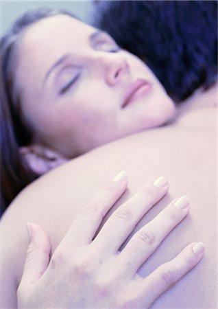 Couple hugging, close-up Stock Photo - Premium Royalty-Free, Code: 695-05775966