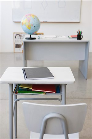 school desk - School desk and chair in classroom Stock Photo - Premium Royalty-Free, Code: 695-05770714