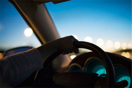 Driving at twilight Stock Photo - Premium Royalty-Free, Code: 695-05771630