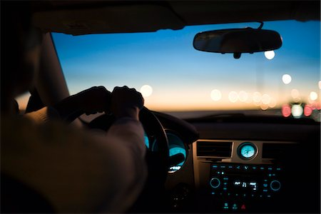 Driving at twilight Stock Photo - Premium Royalty-Free, Code: 695-05771631
