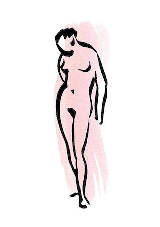 Silhouette of nude woman Stock Photo - Premium Royalty-Free, Code: 695-05780499