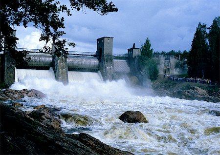 Finland, dam Stock Photo - Premium Royalty-Free, Code: 695-03380837