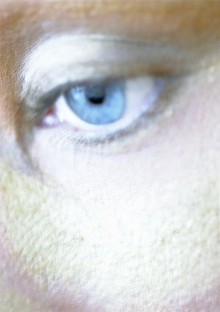 Woman's blue eye, close-up, blurry. Stock Photo - Premium Royalty-Free, Code: 695-03383086