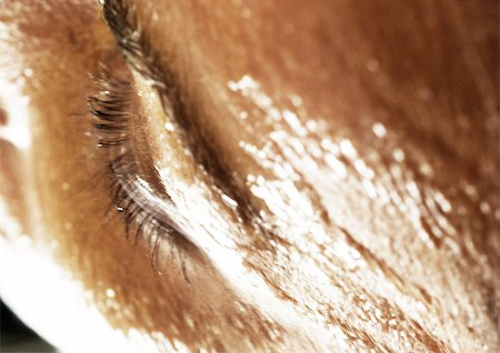 Woman's eye, high angle view, close-up Stock Photo - Premium Royalty-Free, Code: 695-03383113