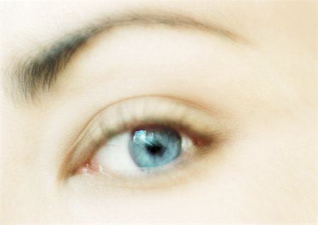 Woman's blue eye, close-up Stock Photo - Premium Royalty-Free, Code: 695-03383160