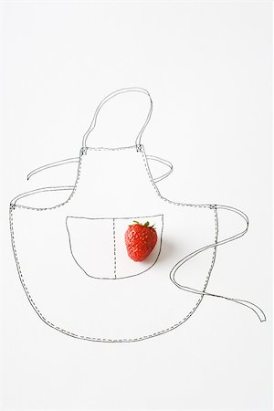 Strawberry and drawing of apron Stock Photo - Premium Royalty-Free, Code: 695-03390161