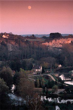France, Burgundy, Yonne department, landscape at twilight Stock Photo - Premium Royalty-Free, Code: 696-03394850