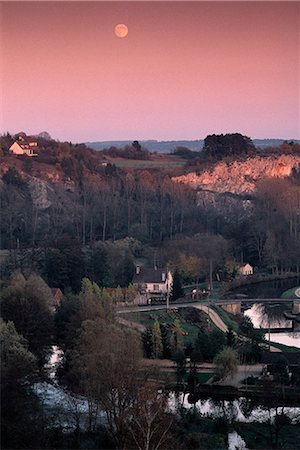 France, Burgundy, Yonne department, landscape at twilight Stock Photo - Premium Royalty-Free, Code: 696-03394850