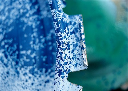spot paint - Blue speckled metal, close-up Stock Photo - Premium Royalty-Free, Code: 696-03398450